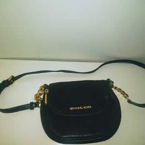 Michael Kors crossbody black leather bag